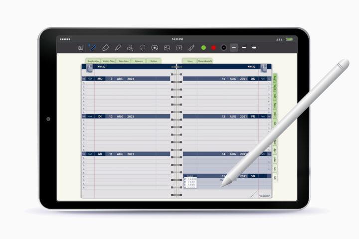 Digitaler Organizer und Lehrerkalender von Wilke